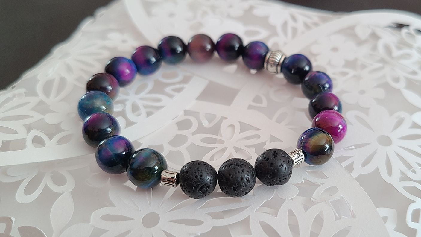 Rainbow Tiger's Eye Bracelet
