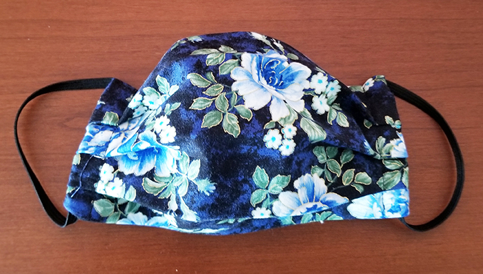 Blue Floral Facemask
